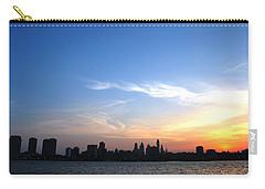 Philadelphia Skyline Low Horizon Sunset Carry-all Pouch by Matt Harang