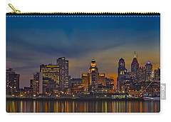Philadelphia Skyline Panorama Carry-all Pouch by Susan Candelario