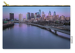 Philadelphia Skyline Pastels Carry-all Pouch by Susan Candelario