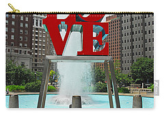Philadelphia's Love Park Carry-all Pouch by Cindy Manero