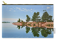 Carry-all Pouch featuring the painting Philip Edward Island by Kenneth M Kirsch