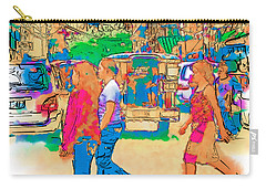 Philippine Girls Crossing Street Carry-all Pouch