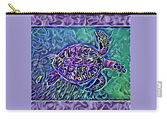 Phillis The Turtle Carry-all Pouch by Erika Swartzkopf