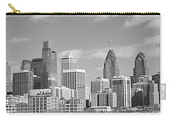 Philly Skyscrapers Black And White Carry-all Pouch