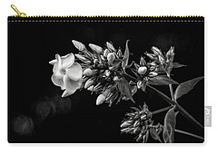 Phlox In Black And White Carry-all Pouch