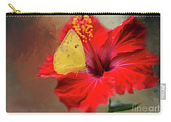 Phoebis Philea On A Hibiscus Carry-all Pouch