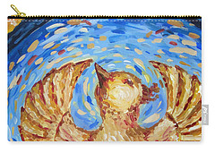 Carry-all Pouch featuring the painting Phoenix by Maria Langgle