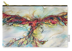 Carry-all Pouch featuring the painting Phoenix Rainbow by Christy Freeman
