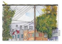 Phole Pole In Hawthorn And Fuller, Hollywood, California Carry-all Pouch by Carlos G Groppa