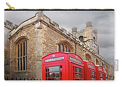 Carry-all Pouch featuring the photograph Phone Home - Gt St Marys Church Cambridge by Gill Billington