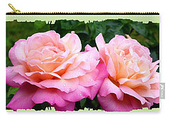 Carry-all Pouch featuring the photograph Photogenic Peace Roses by Will Borden