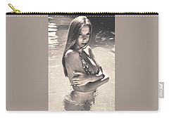 Photograph Vintage Summer Look With Woman In Bikini #8624m Carry-all Pouch