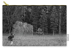 Photographer In The Valley Carry-all Pouch by Ralph Vazquez