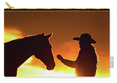 Cowgirl Sunset Sihouette Carry-all Pouch