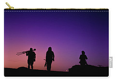 Photographers At Sunset Carry-all Pouch by Ralph Vazquez