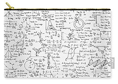 Carry-all Pouch featuring the drawing Physics Forms by Gina Dsgn