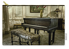 Carry-all Pouch featuring the photograph Piano At Josie's House by Joan Carroll