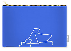 Piano In Blue Carry-all Pouch by David Bridburg