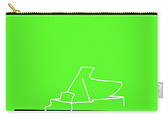 Piano In Green Carry-all Pouch by David Bridburg