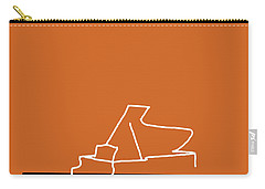 Piano In Orange Carry-all Pouch by David Bridburg