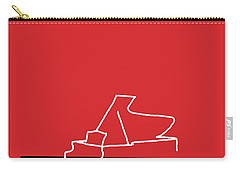 Piano In Red Carry-all Pouch by David Bridburg