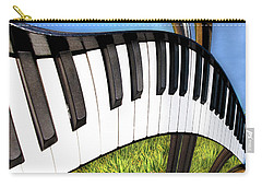 Carry-all Pouch featuring the photograph Piano Land by Paul Wear