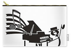 Piano Man Carry-all Pouch by Maria Watt