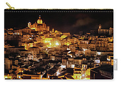 Piazza Armerina At Night Carry-all Pouch by Patrick Boening