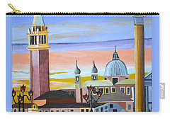 Piazza San Marco Carry-all Pouch by Donna Blossom
