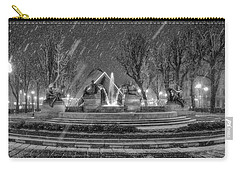 Carry-all Pouch featuring the photograph Piazza Solferino In Winter-1 by Sonny Marcyan