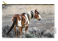 Picasso - Wild Mustang Stallion Of Sand Wash Basin Carry-all Pouch by Nadja Rider
