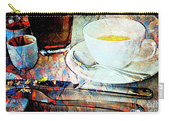 Carry-all Pouch featuring the photograph Picasso's Coffee by Craig J Satterlee