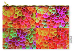 Carry-all Pouch featuring the photograph Pick A Straw By Kaye Menner by Kaye Menner