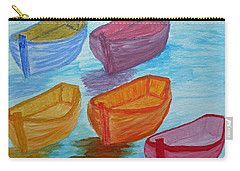 Carry-all Pouch featuring the painting Pick Your Boat by Barbara McDevitt