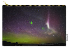Picket Fences And Proton Arc, Aurora Australis Carry-all Pouch by Odille Esmonde-Morgan