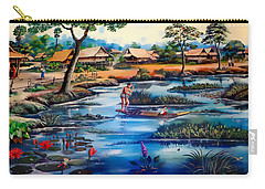 Picking Lotus Flowers Carry-all Pouch by Ian Gledhill