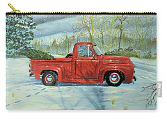Picking Up The Christmas Tree Carry-all Pouch