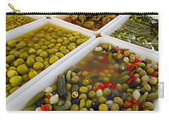 Carry-all Pouch featuring the photograph Pickled Olives And Others by Tina M Wenger