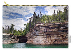Pictured Rocks Carry-all Pouch by Alan Casadei