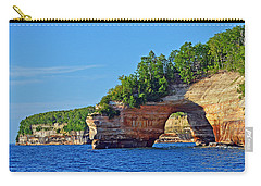 Carry-all Pouch featuring the photograph Pictured Rocks by Rodney Campbell
