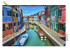 Picturesque Buildings And Boats In Burano Carry-all Pouch