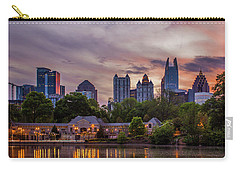 Carry-all Pouch featuring the photograph Piedmont Park Midtown Atlanta Sunset Art by Reid Callaway