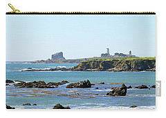 Carry-all Pouch featuring the photograph Piedras Blancas Lighthouse by Art Block Collections
