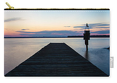 Pier At Sunset 16x20 Carry-all Pouch