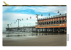 Carry-all Pouch featuring the photograph Pier Daytona Beach by Carolyn Marshall