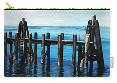 Carry-all Pouch featuring the painting Pier by Jason Girard