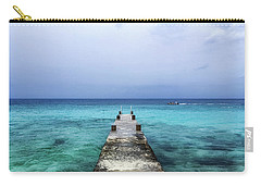 Pier On Caribbean Sea With Boat Carry-all Pouch
