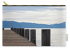 Carry-all Pouch featuring the photograph Pier On The Lake by Ana V Ramirez