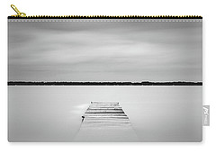 Carry-all Pouch featuring the photograph Pier Sinking Into The Water by Todd Aaron