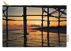 Oak Island Pier Sunset Carry-all Pouch